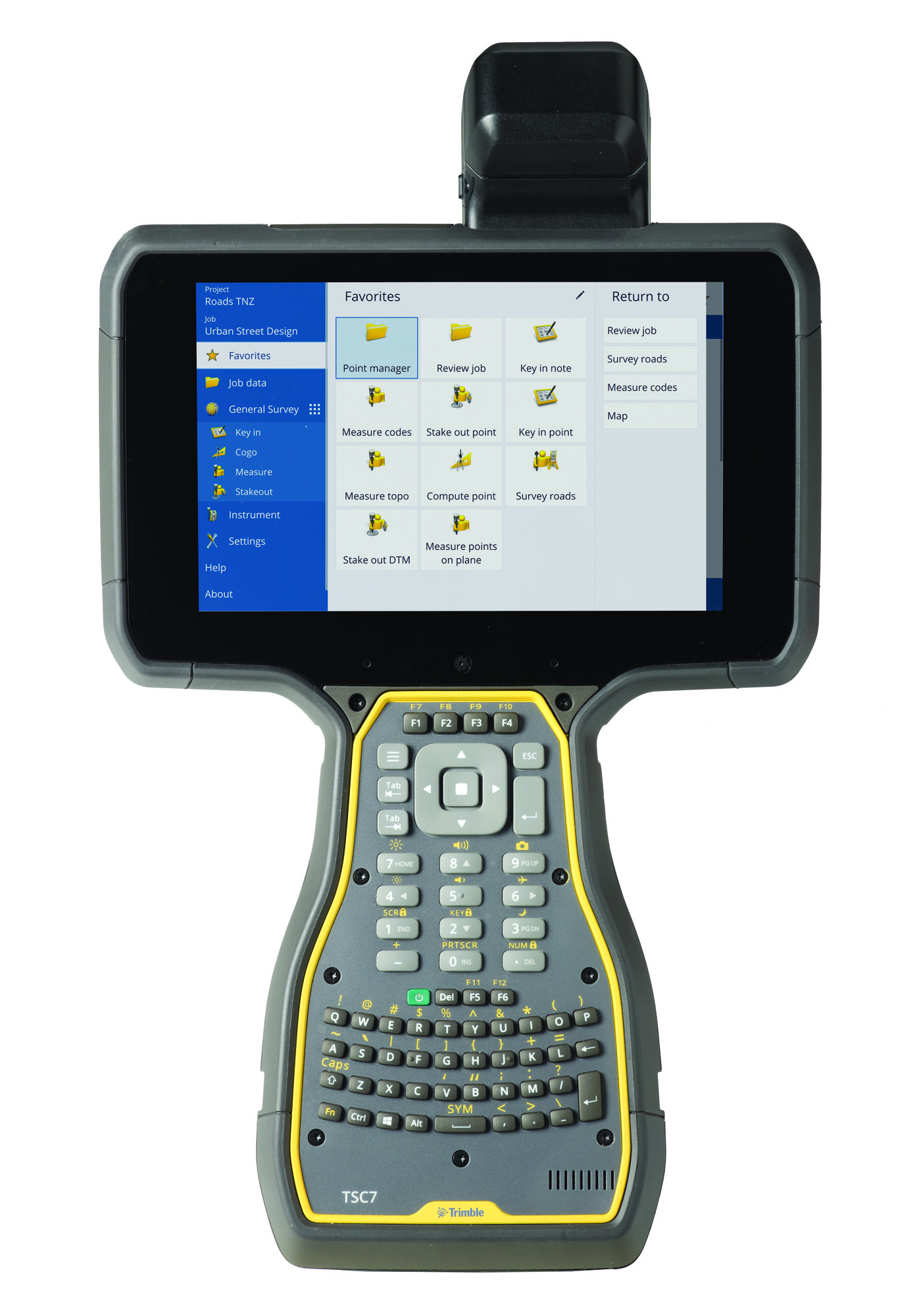 Trimble TSC7 controller - QWERTY keypad, USB/Serial boot, Worldwide region,  Trimble Access